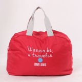 3 PCS Fashion Travel Bag Large Capacity Women Polyester Folding Bags Duffle Bag Waterproof Journey Handbags (Wine Red)