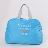 3 PCS Fashion Travel Bag Large Capacity Women Polyester Folding Bags Duffle Bag Waterproof Journey Handbags (Sky Blue)