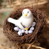 Rattan Nest Bird Bird Crafts Chicken Nest DIY Handmade Bird Nest Scene Props