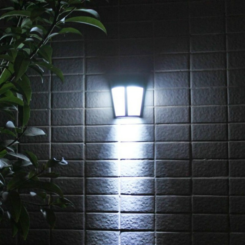 6 LEDs Outdoor IP65 Waterproof Energy Saving Solar Powered LED Wall Lamp Security Light (White Light)