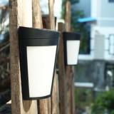 6 LEDs Outdoor IP65 Waterproof Energy Saving Solar Powered LED Wall Lamp Security Light (Warm Light)