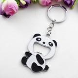 2 PCS Cartoon Animal Shape Beer Bottle Opening Tool Opener Panda Keychain Pendant