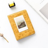 3 inch Colorful Starry Series PU Cover Album Photo Movie Ticket Storage Collection Photo Album Book (Retro Yellow)