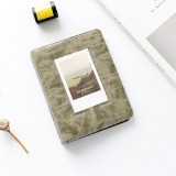 3 inch Colorful Starry Series PU Cover Album Photo Movie Ticket Storage Collection Photo Album Book (Retro Gray Black)