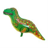 2 PCS Dinosaur Modeling Aluminum Foil Balloon Children Birthday Decoration Party Supplies Toy, Size: Large, Style: Green-spotted Dinosaur