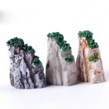 2 PCS Moss Micro Landscape Decoration Simulation Rockery Resin Decoration, Random Color Delivery