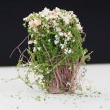 Artificial Handmade Model Material Sand Table Building Bush Flower Finished Flower (White Pink Flower)