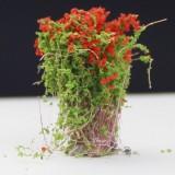 Artificial Handmade Model Material Sand Table Building Bush Flower Finished Flower (Red Flowerr)