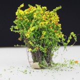 Artificial Handmade Model Material Sand Table Building Bush Flower Finished Flower (Yellow Tangerine Flowerr)
