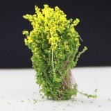 Artificial Handmade Model Material Sand Table Building Bush Flower Finished Flower (Yellow Flower)