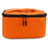 EDAL Water-resistant DSLR Padded insert Case Waterproof Zipper Removable Partition Camera Bags (Orange)