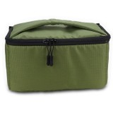 EDAL Water-resistant DSLR Padded insert Case Waterproof Zipper Removable Partition Camera Bags (Army Green)
