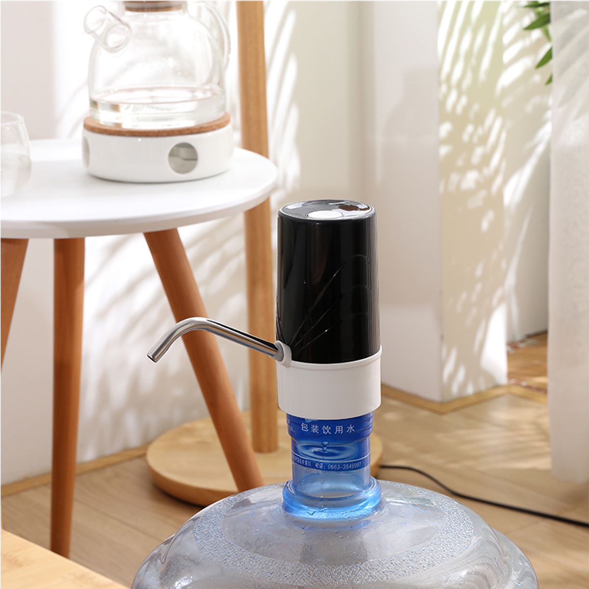 USB Automatic Water Pump Dispenser Rechargeable 5 Gallon Universal Electric Switch Water Bottle Pumping Device