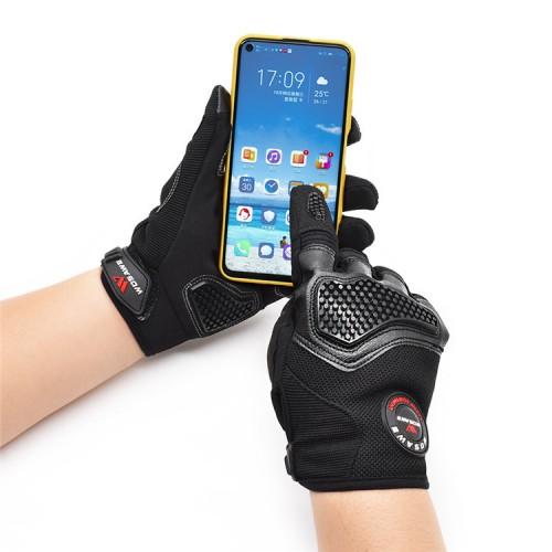WOSAWE Touch Screen Full Finger Motocycle Gloves Bike Motorbike Riding Off-Road Gloves Men Women