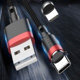 USLION 3A Quick Charging Micro USB Type C Fast Charging Magnetic Data Cable For Huawe P30 Pro Mate 30 Xiaomi Mi9 9Pro Redmi K20 Pro K30 S10+