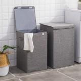 Cotton Linen Storage Baskets Collapsible Laundry Hamper Waterproof Laundry Bucket