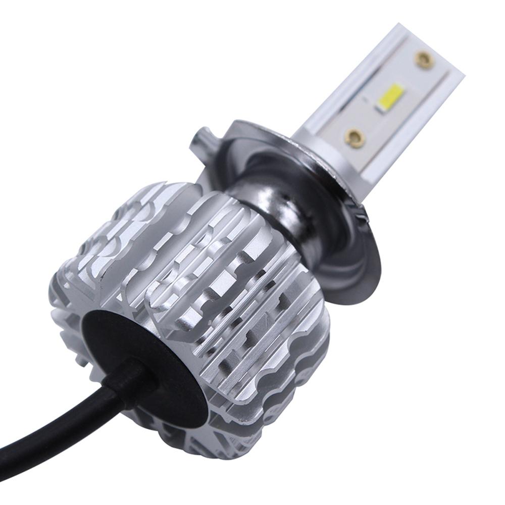 CNSUNNYLIGHT K1 CSP LED Car Headlights Fanless Bulbs H1 H4 H7 H8/H9/H11 9005 9006 50W 8000LM 6000K White