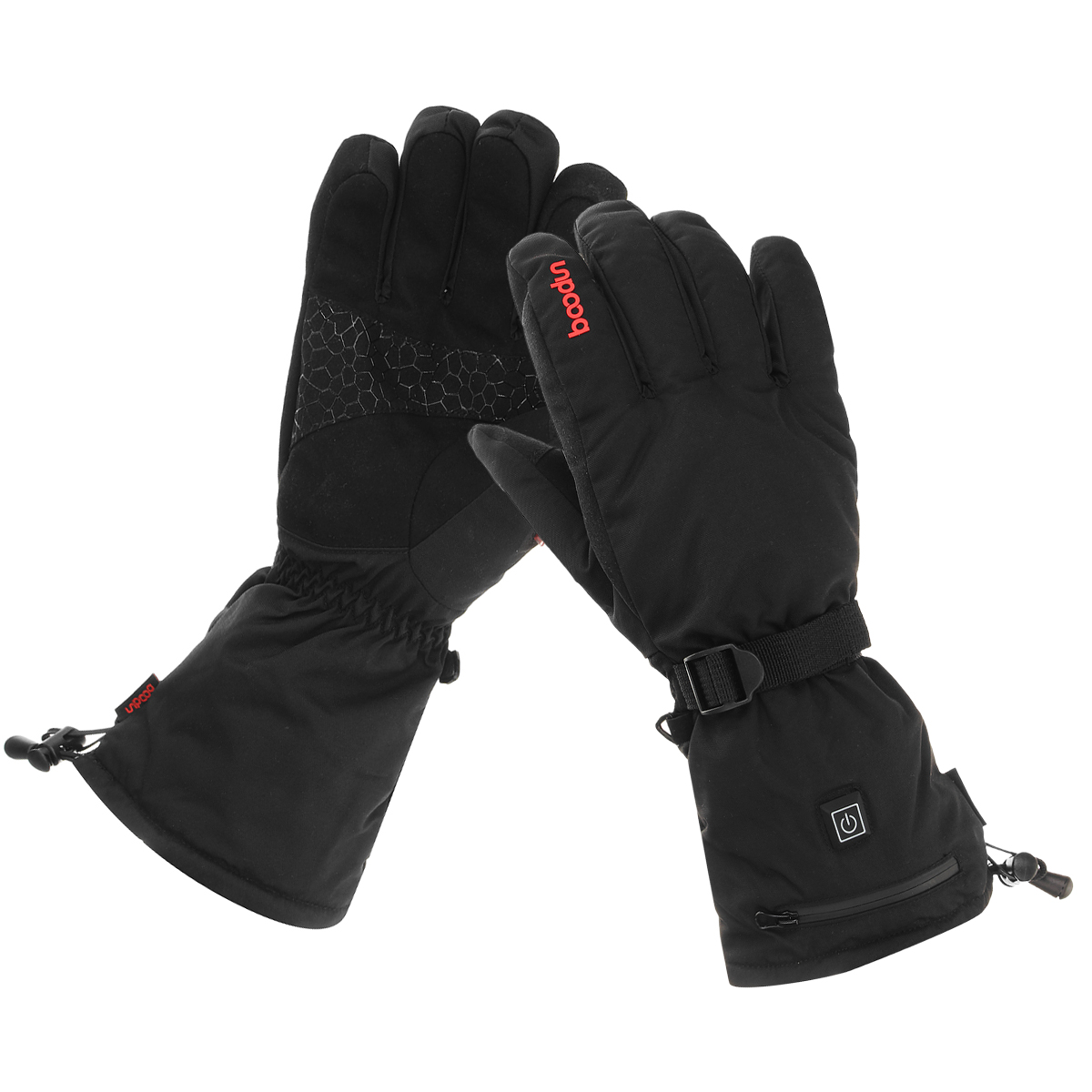 3000MAh Rechargeable Electric Heating Gloves Battery Waterproof Skiing Motorcycle Heated Winter Hand Warmer