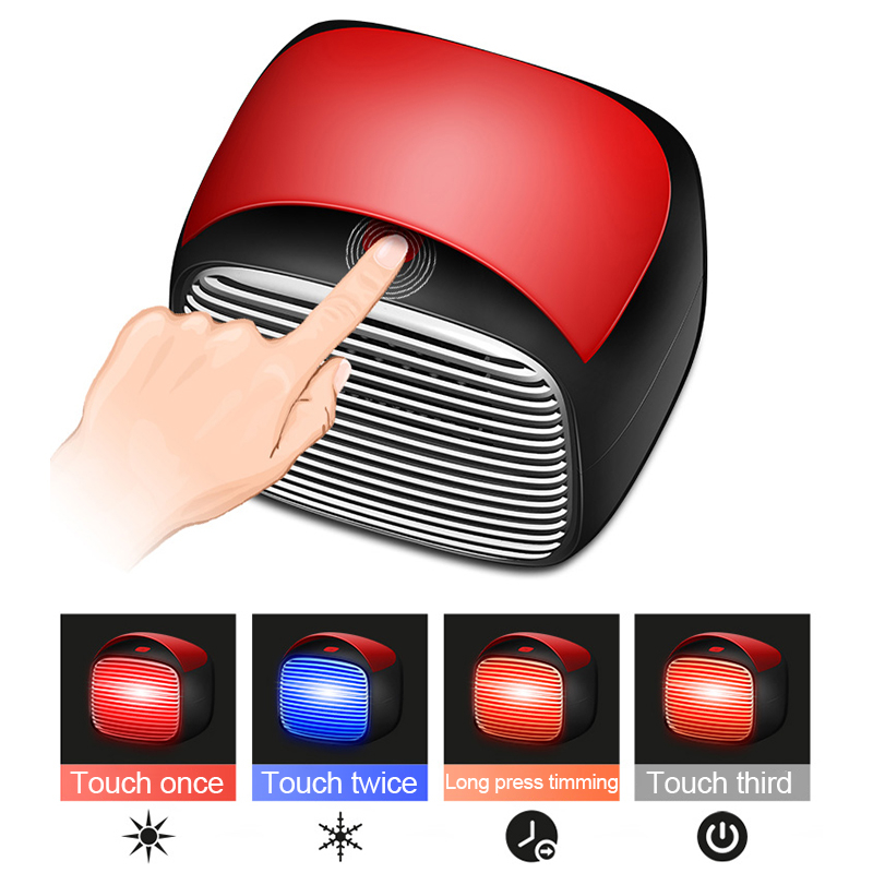 800W 110V/220V Mini Ceramic Electric Heater Home Office Space Heating Warm/Cold Fan Silent