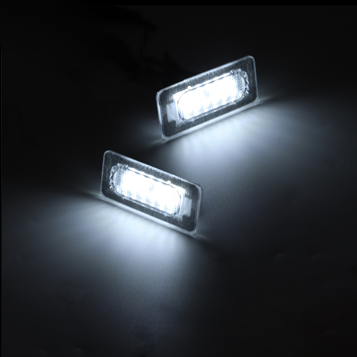 2Pcs Car SMD White LED Lights License Plate Lamps 6000K For Toyota Corolla 2014-2019