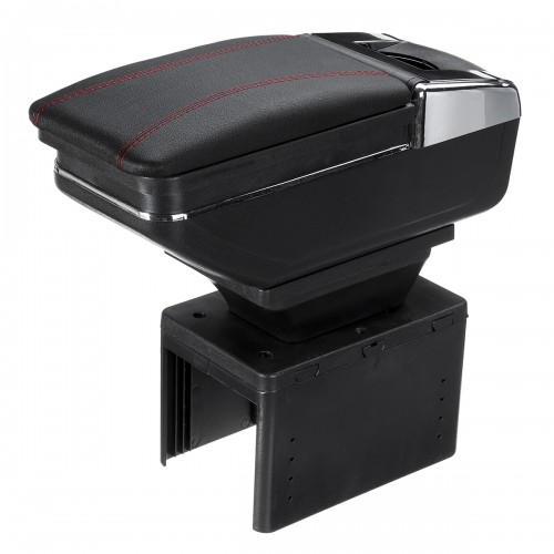 50*19*22cm Universal Armrest Car Arm Rest Center Console Rotatable PU Leather Storage Box