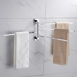 2/3/4 Poles Stainless Stainless Steel Rotating Towel Rack Bath Rail Hanger Towel Holder