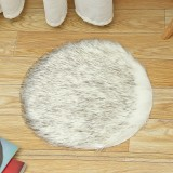 40cm Fluffy Rug Round Pad Carpet Hairy Fur Shag Sheepskin Bedroom Floor Mat