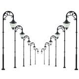 5Pcs Scale 1:87 Model Railway Lamppost Lamps LED Street Garden Train Light
