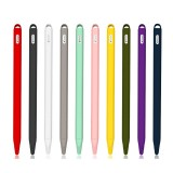 Silicone Sleeve Cap Tip Cover Holder Tablet Touch Pen Stylus Anti-fall Pouch Sleeve For Apple Pencil 2 Generation Case For iPad Pencil