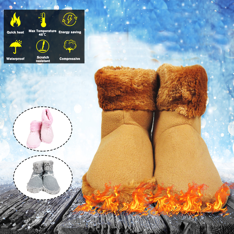 USB Fast Charging Waterproof Electric Heating Shoes Winter Warmer Shoes Climbing Skiing Shoes