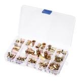 Suleve MXZN8 93Pcs Mixed Steel Rivet Nut Rivnuts Blindnuts Nutserts M3-M10 Nut Insert Rivet Assortment Kits