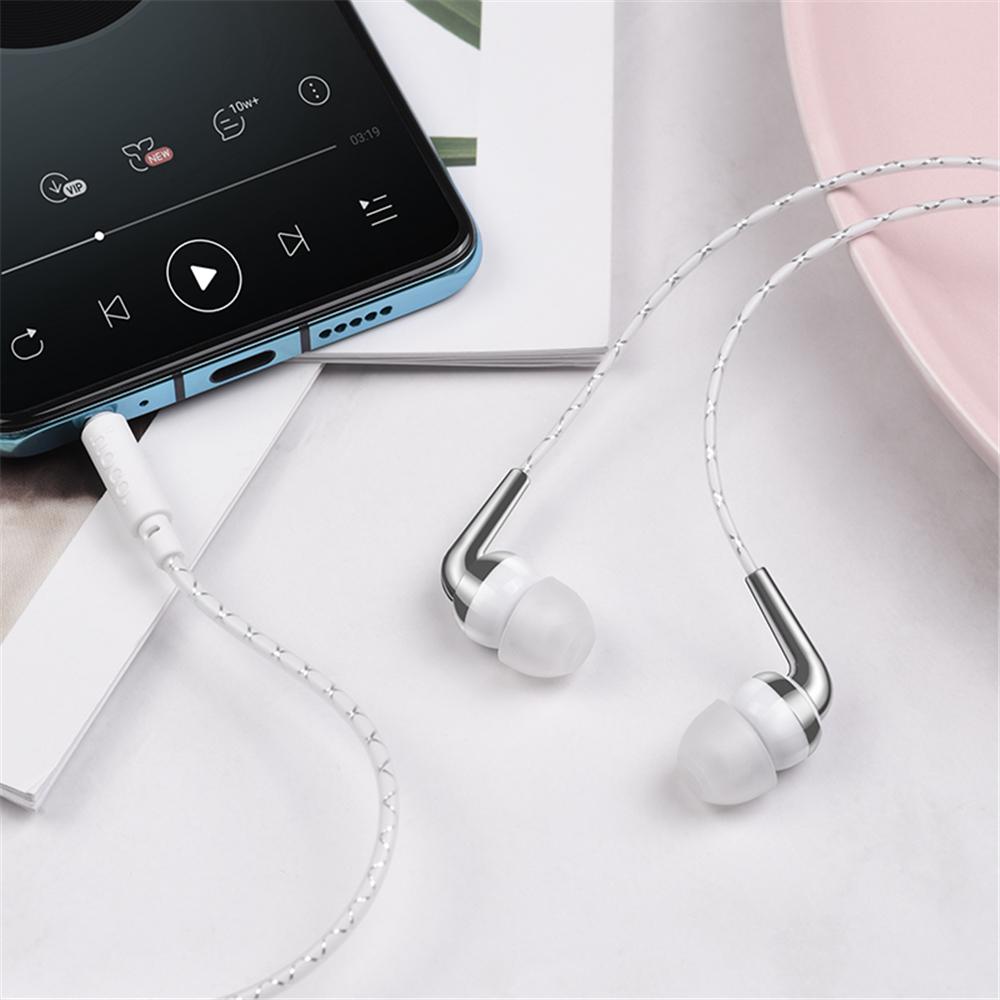 HOCO M71 3.5mm In-ear Earphone Stereo Hifi Earbuds Waterproof Headphones with Mic