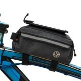 Bicycle Front Beam Storage Bag Mobile Phone Bag Large Capacity Mountain Bike Bag Multifunctional Tool Bag