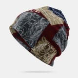 Unisex Letter Print Twist Hat Beanie hat