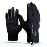 1Pair Touch Screen Gloves Winter Sport Skiing Gloves Zipper Thermal Warm Windproof Tactical Glove