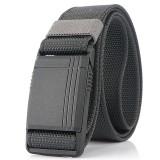 AWMN 125cm Men's Nylon Belt Magnetic Quick Buckle Tactical Belt
