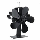 5 Blade Fireplace Heat Powered Stove Fan Quiet Wood Burner Eco Fan Efficient Heat Distribution