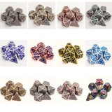7Pcs/set Classic Zinc Alloy Metal Polyhedral Dices Dad Rpg Dungeons and Dragons Role Playing Toys Game
