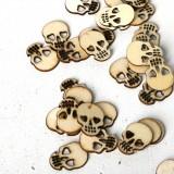 Loskii JM01543 150PCS Blank Wood Halloween Party Owl Skull Bat Pumpkin Cat Spider Halloween Decorations