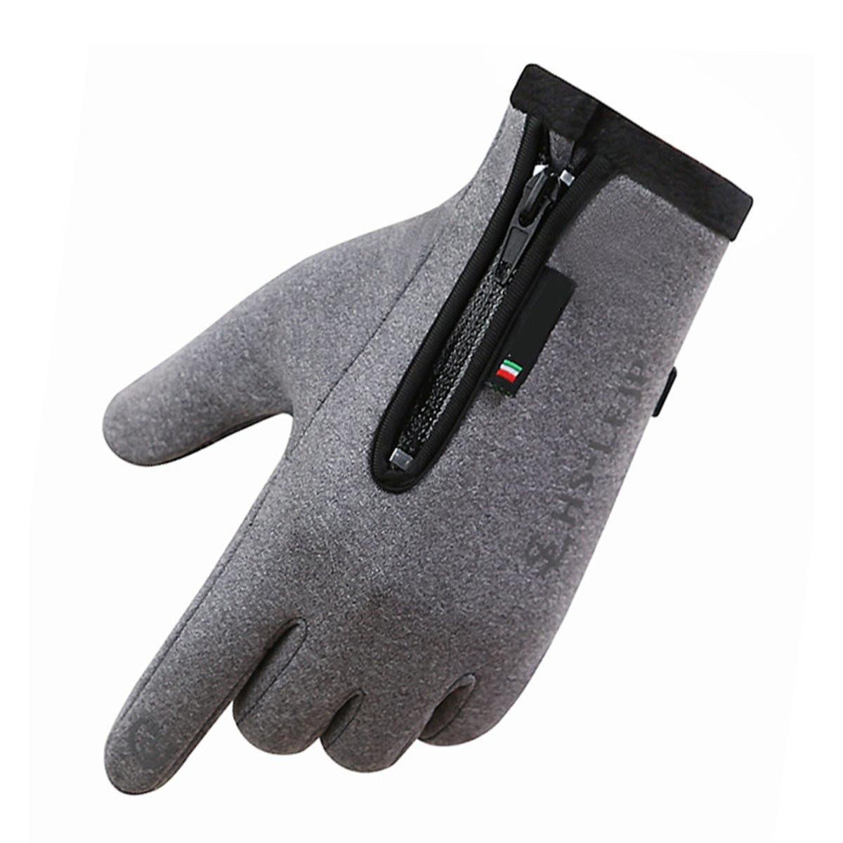 Touch Screen Gloves Fleece Winter Warm Outdoor Sports Mountain Biking Windproof Waterproof Fleece Lined Thermal