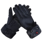 Winter Warm Women Gloves Outdoor Sport Touch Screen Windproof Full-finger Gloves