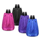 Nylon Dry Wet Clothes Separation Gym Training Yoga Shoe Bags Waterproof Hiking Storage Backpack Men Women