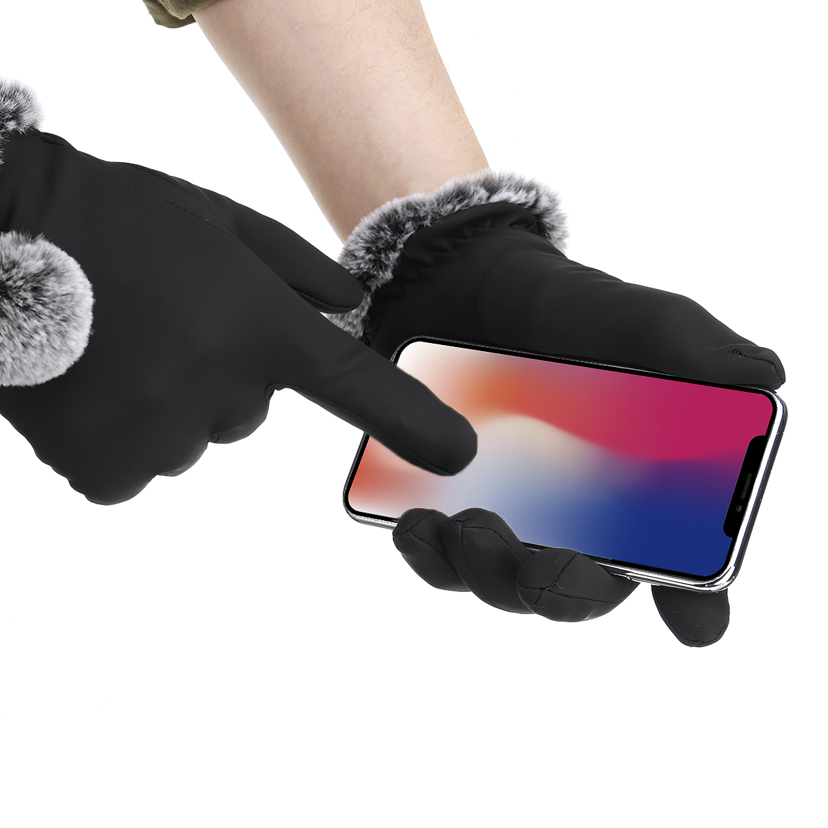 Ladies Winter Gloves Touch Screen Outdoor Sport Driving Waterproof Thermal Warm Gloves