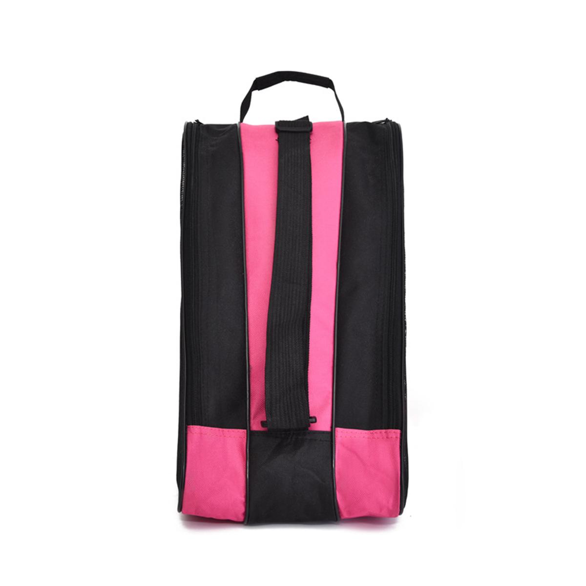 Portable Ice Skate Bag Roller Skate Carry Bag Adjust Shoulder Strap Carry Case