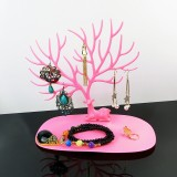 Plastic Creative Cosmetic Organizer Ring Lipstick Rack Makeup Organizer Antler Shaped Jewelry Box Necklace Display Organizer