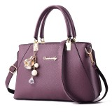 Womens Purses and Handbag Shoulder Bag Lichi Pattern Large Tote Bag Top Handle Satchel with Long String Decoration