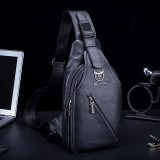 Men Genuine Leather Large Capacity Shoulder Bag Crossbody Bag For Business