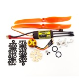 XXD A2212 2212 2450KV KV2450 Brushless Motor+HTIRC 40A ESC+5030 Prop Blade Propeller RC Power System Combo for RC Drone Airplane Support 2s-4s