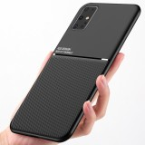 Bakeey Magnetic Non-slip Leather Texture TPU Shockproof Protective Case for Samsung Galaxy S20