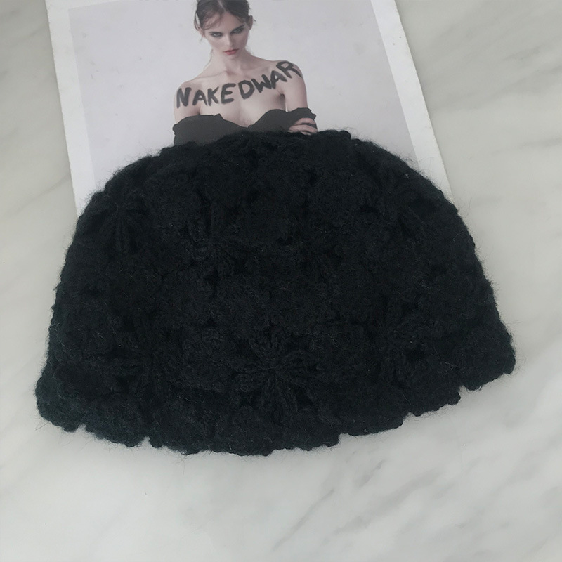 Women Hand-crocheted Beanie Caps Retro Literary Casual Turban Hat